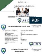 O & M ( USO Clase Unidad 1 y 2 )