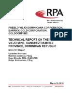 Technical Report of Pueblo Viejo mining