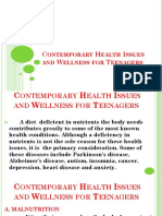 Contemporary Health Issues and Wellness for Teenagers