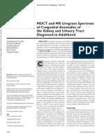 mdct and mr urogram spectrum of congenital. jurnal