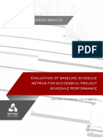 Evaluation of Baseline Schedule Metrics Final 1