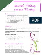 SInvitation Wording