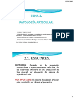 m.d. Tema 2.Patologia Articular.
