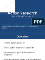 Action Research - Appraising Proposals