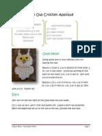 Wee Owl Crochet Appliqué