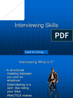 Interviewing skills by insaf ali siming