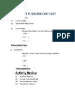 Abbott Medicine Company Ratio Analysis