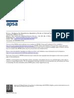 Bridging the Quantitative Qualitative Divide in Political Science
