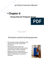 Chapter 6 Group Exercise Program Design PP