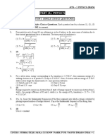 Physics (Question Paper & Solution)