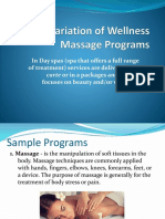 Variation of Wellness Massage Programs - Copy