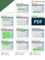 Kalender 2018 Saarland Hoch