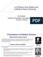 Foundations of Physics from Galileo and Newton to Modern Ideas of Synergy