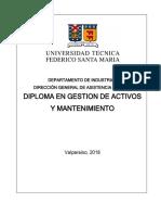 Diploma en Gestión de Activos y Mantenimiento 2018