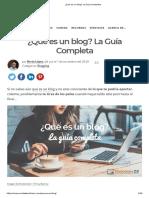 ¿Qué es un blog_ La Guía Completa