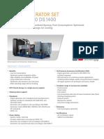 MTU 14 V4000 gas engine spesification