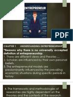 Entrepreneur and Entrepreneurship