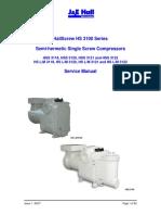 McQuay HallScrew HS-3100 Series compressor service manual