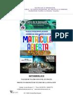 TEATRO DE LA SENSACIÓN-Matricula Abierta-taller de Teatro en Ingles-el Señor de Los Anillos