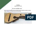 Harp Guitar Catalog