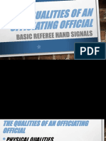 Qualities of an Officiating Official