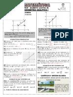 Apostila de Geometria Analítica I (6 Páginas, 57 Questões, Com Gabarito)