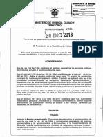 Decreto 2981-2013 PDF Reglamentacion Servicio de Aseo
