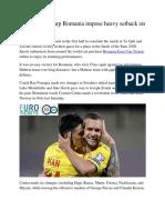 Euro 2020 Sharp Romania Impose Heavy Setback on Malta