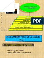 Steps in Classroom Testing