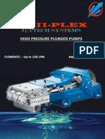 High Pressure Plunger Pump Catalogue - 500 to 1000 Bar