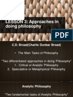 Approaches in Doing Philosophy
