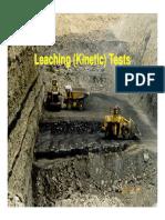 Leaching kinetic test