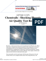 Chem Trails - Shocking Phoenix Air Quality Test Results