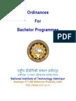 Bachelor ordinance NIT Hamirpur