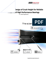 Design of Crush Height for Reliable Press Fit of High Performance Bearings