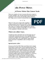 Audio Power Meter