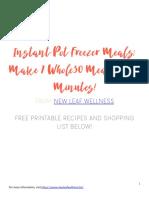 7 Whole30 Instant Pot Freezer Meals