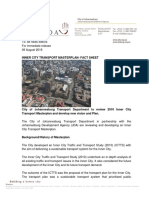 20190806 Inner City Transport Masterplan- Fact Sheet Final