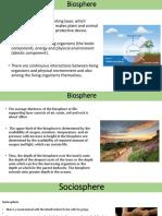 biosphere and sociosphere