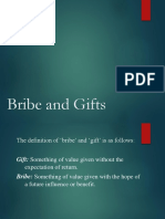Bribe and Gifts