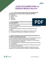 simulacro examen residencia medica bolivia