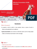 Presentation Skill & Interview