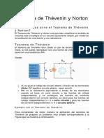 Teorema de Thévenin y Norton_teoria