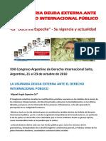 La Usuraria Deuda Externa Ante El Derecho Internacional Público