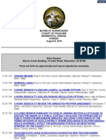 Fauquier Board of Supervisors August 8, 2019