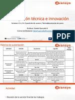 Sesión 13 y 14. Investigación Técnica e Innovación