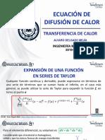 Ecuación de Difusión de Calor 2019-2