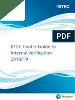 BTEC Centre Guide to Internal Verification 2018 2019