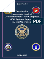 JP-06 Doctrine ForCommand, Control,Communications, And Computer(C4) Systems Supportto Joint Operations