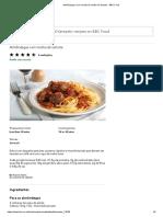 Almôndegas Com Receita de Molho de Tomate - BBC Food